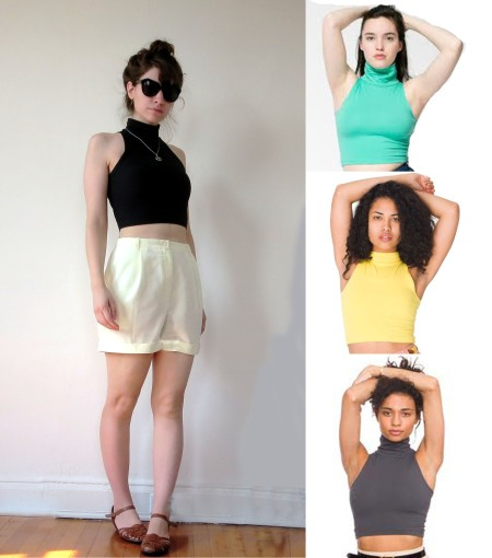 The Essentials: The American Apparel Sleeveless Turtleneck Crop Top