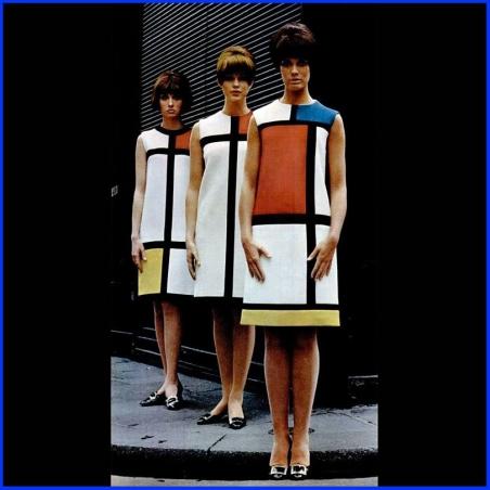 Fashion Mondrian YSLaurent 65 Sally Black 79843